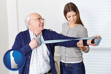 rehabilitation therapy - with Delaware icon